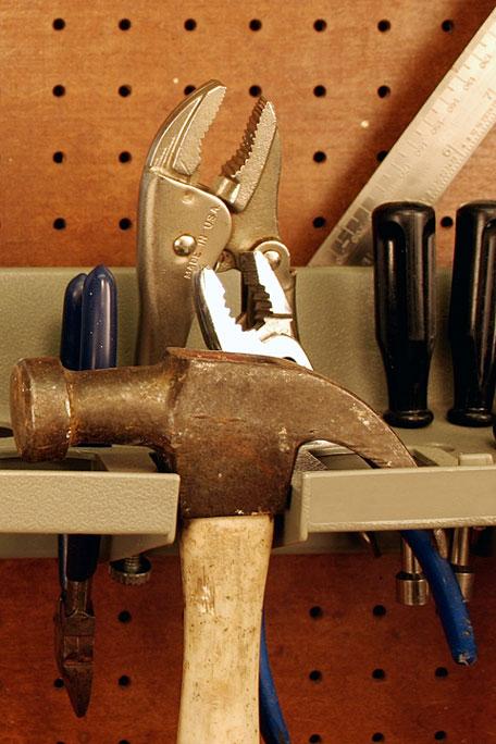 tools on a rack